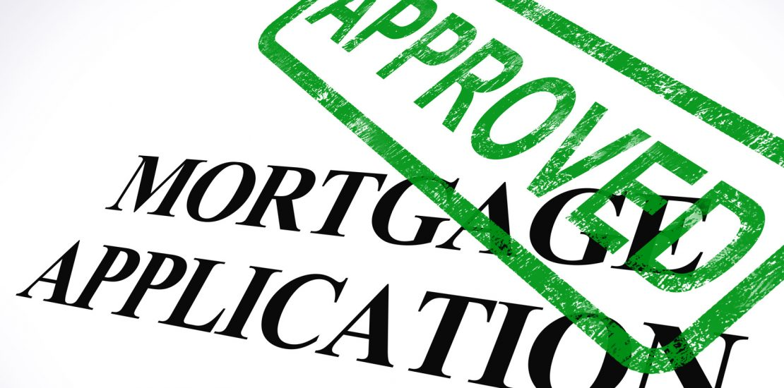 Mortgage Application Approved Stamp Shows Home Loan Agreed image